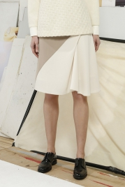 Hilary Asymmetric Two Toned Skirt